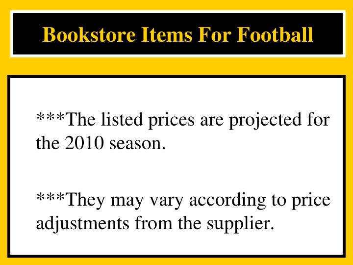 Bookstore Items For Football