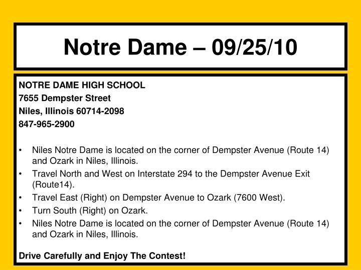 Notre Dame – 09/25/10
