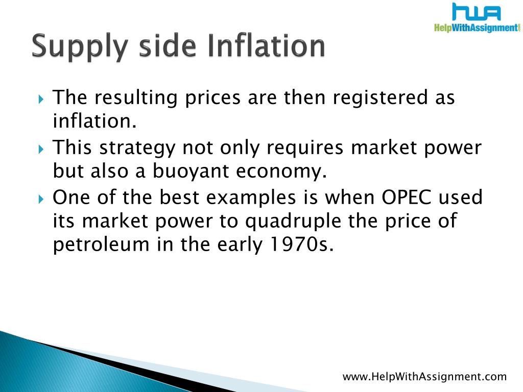 Supply side Inflation
