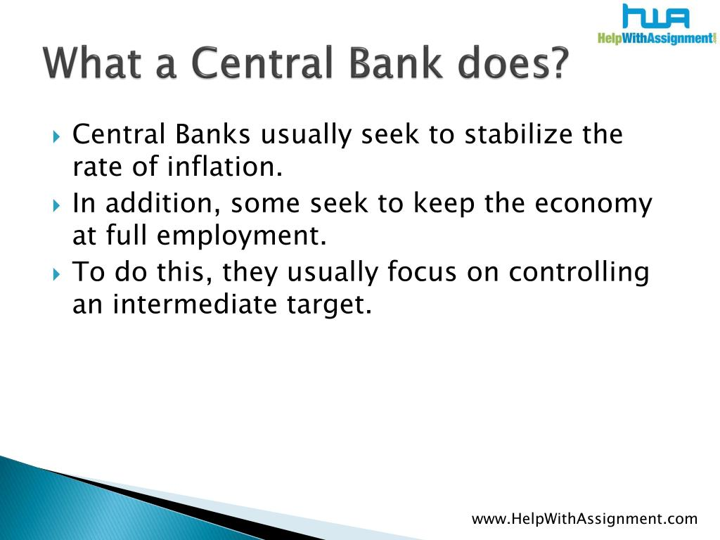What a Central Bank does?