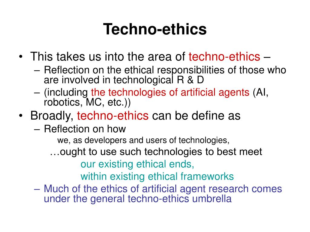 Techno-ethics