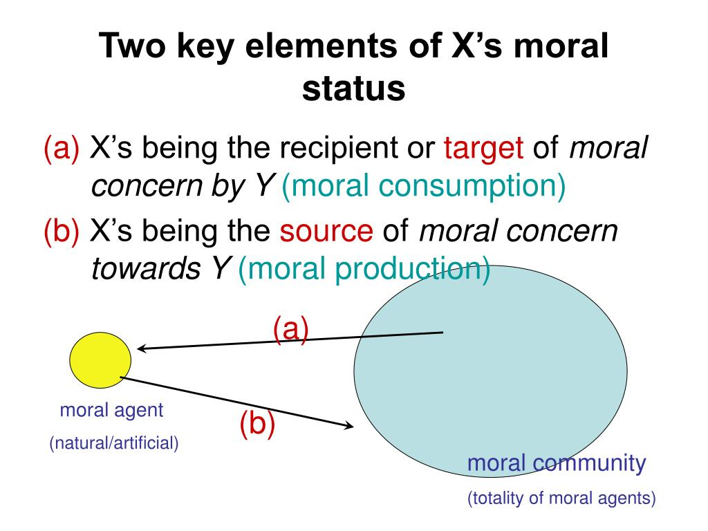 Two key elements of X's moral status