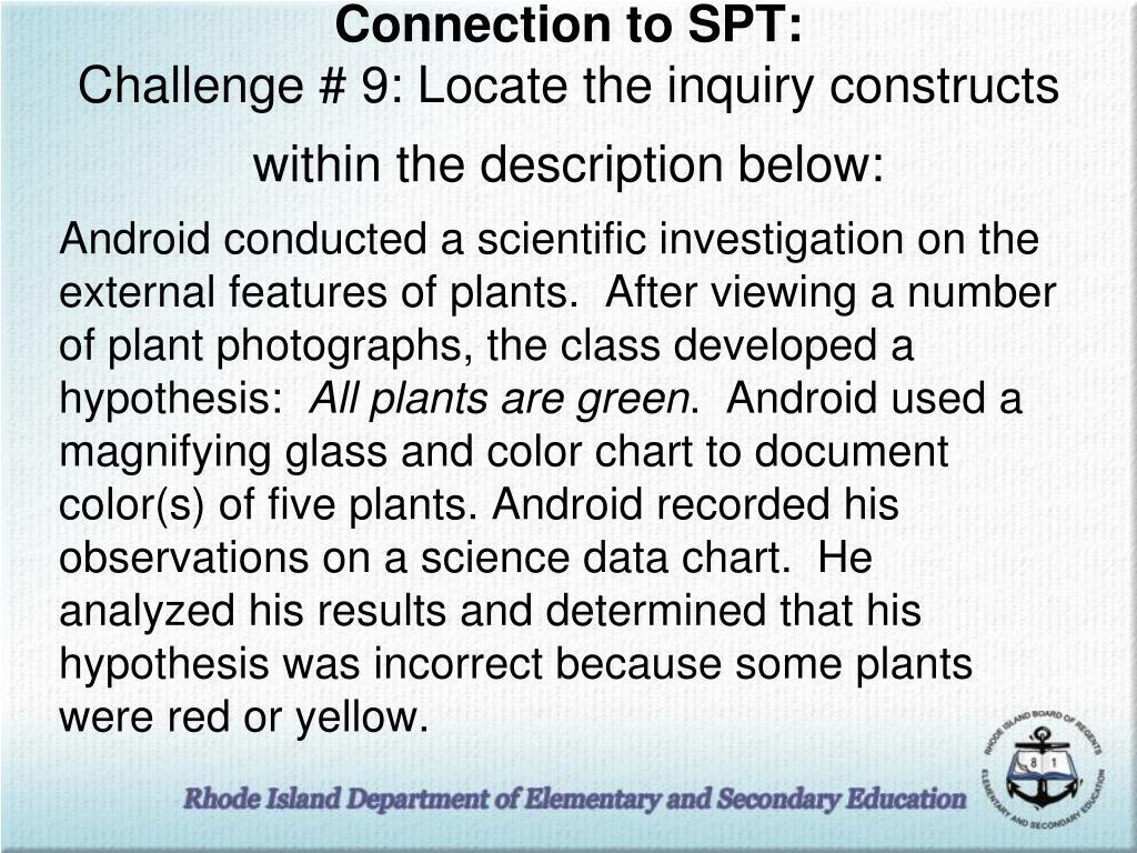 Connection to SPT: