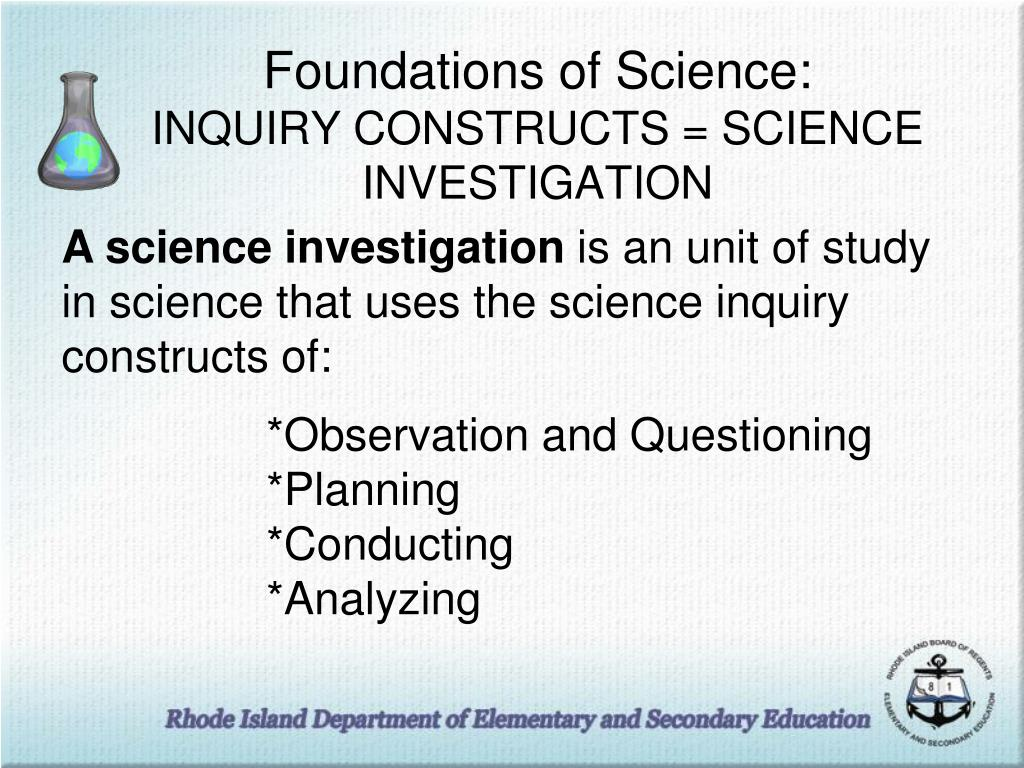 Foundations of Science: