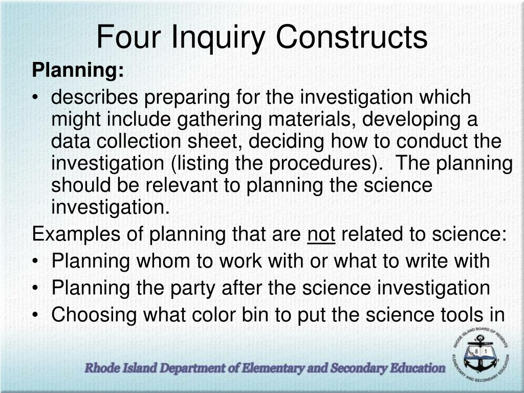 Four Inquiry Constructs