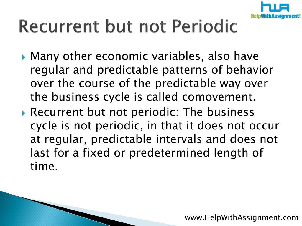 Recurrent but not Periodic