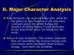 ii major character analysis