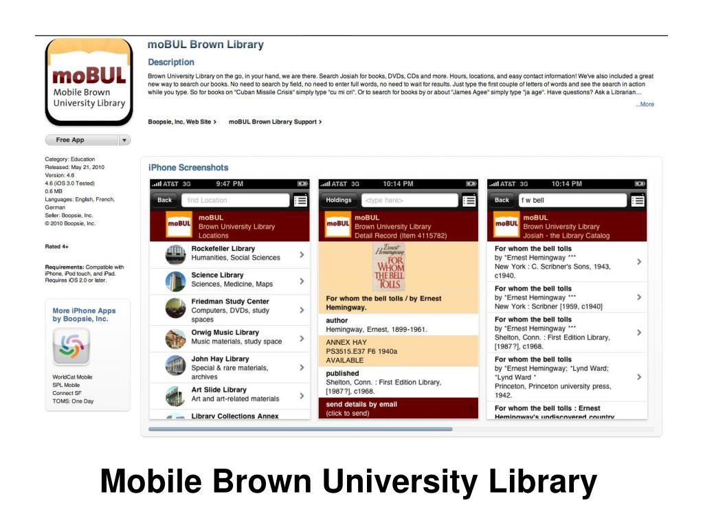Mobile Brown University Library