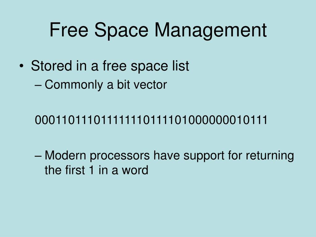 Free Space Management