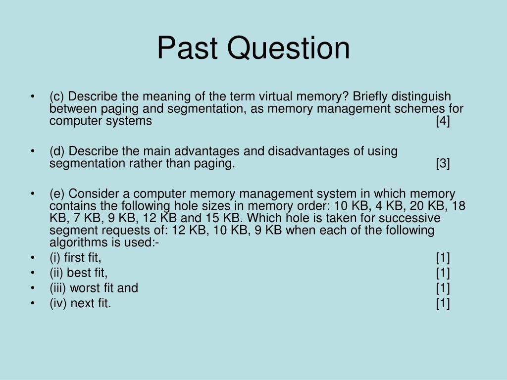 Past Question
