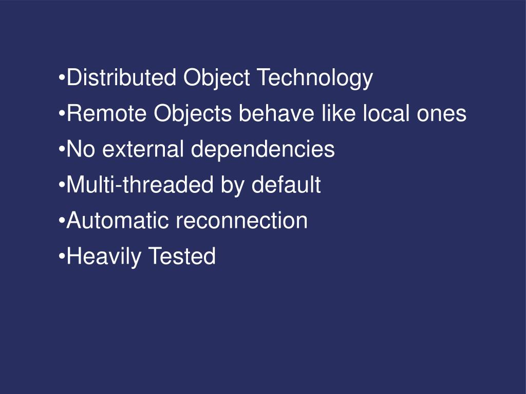 Distributed Object Technology