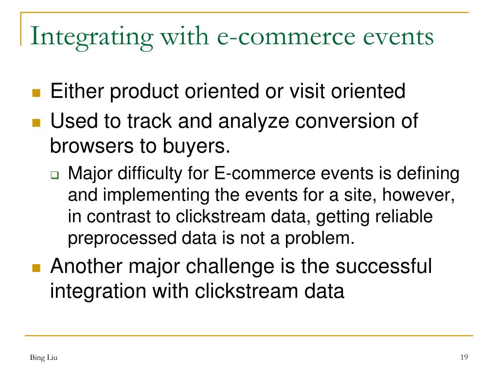Integrating with e-commerce events