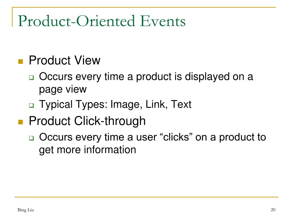 Product-Oriented Events