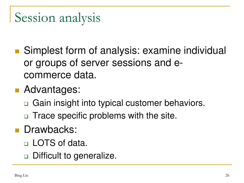 Session analysis