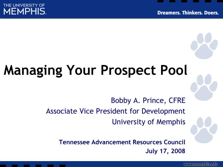 Managing Your Prospect Pool