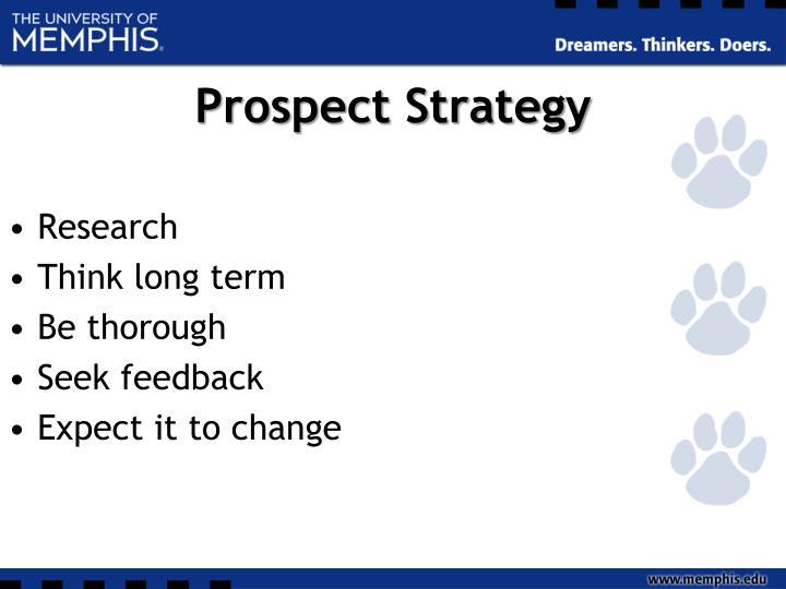 Prospect Strategy