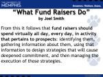 what fund raisers do by joel smith1