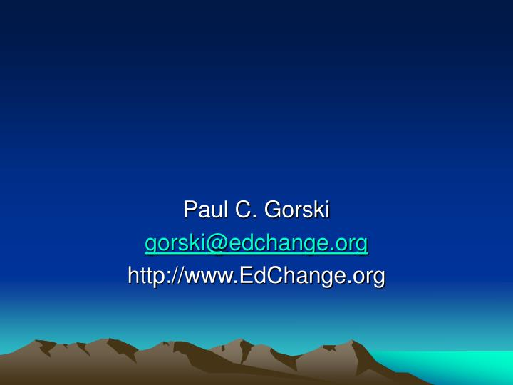 Paul C. Gorski