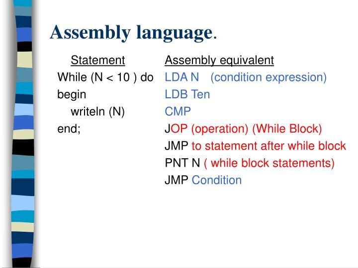 Assembly language