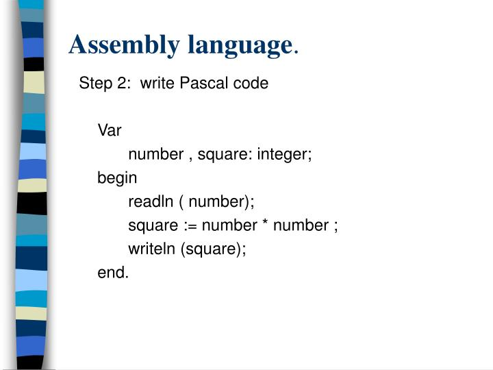 Assembly language