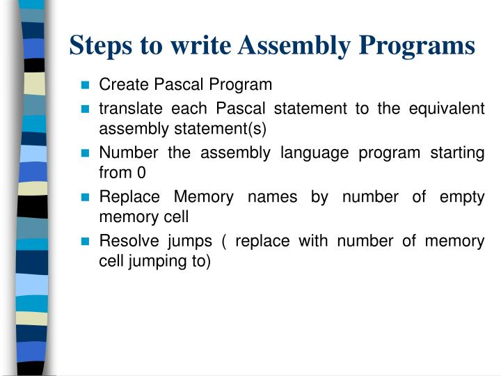Steps to write Assembly Programs