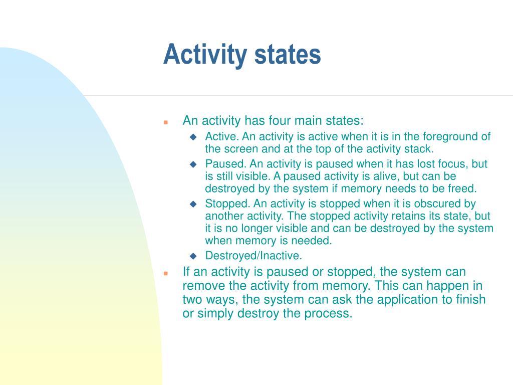 Activity states