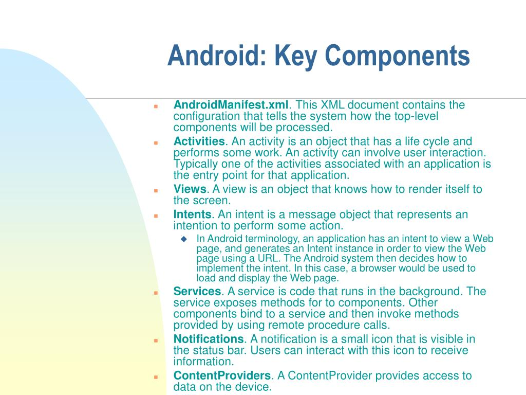 Android: Key Components