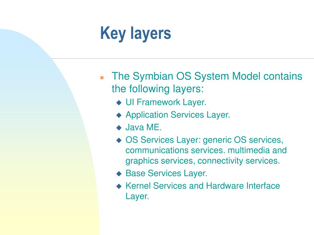 Key layers