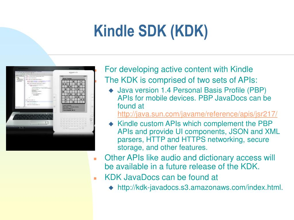 Kindle SDK (KDK)