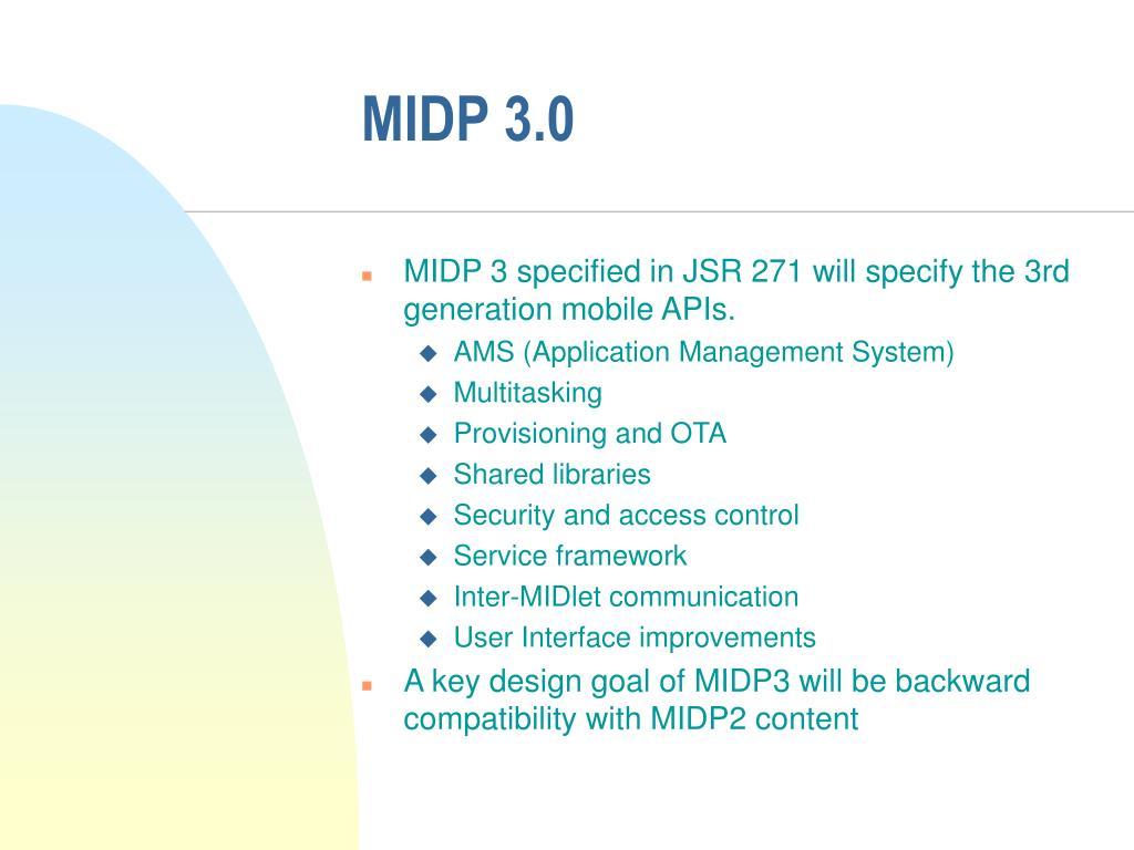 MIDP 3.0