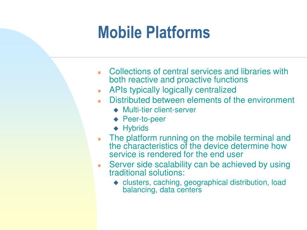Mobile Platforms