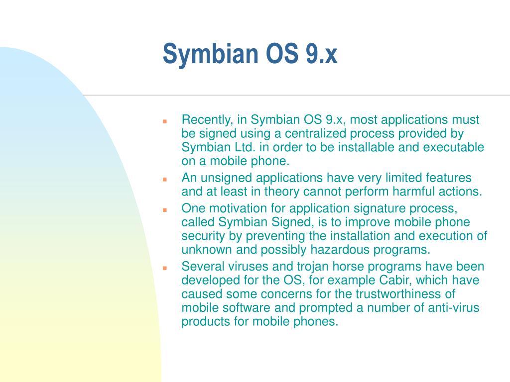 Symbian OS 9.x