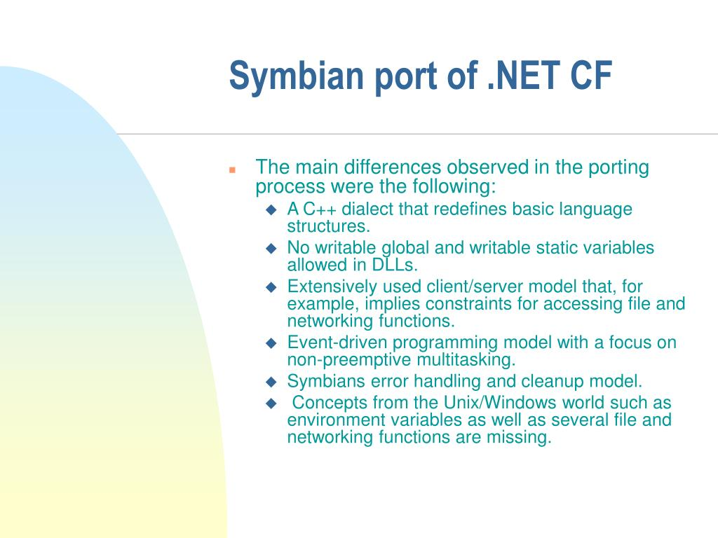 Symbian port of .NET CF