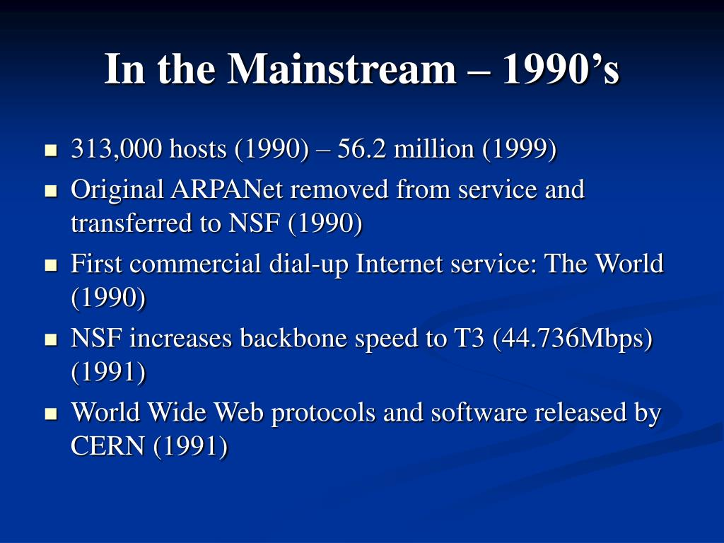 In the Mainstream – 1990's