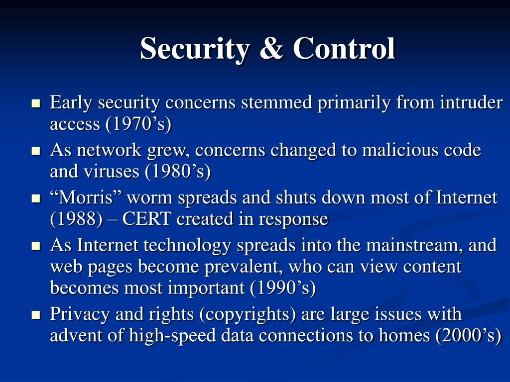 Security & Control