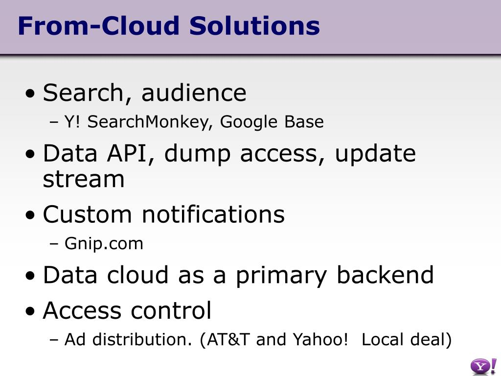 From-Cloud Solutions