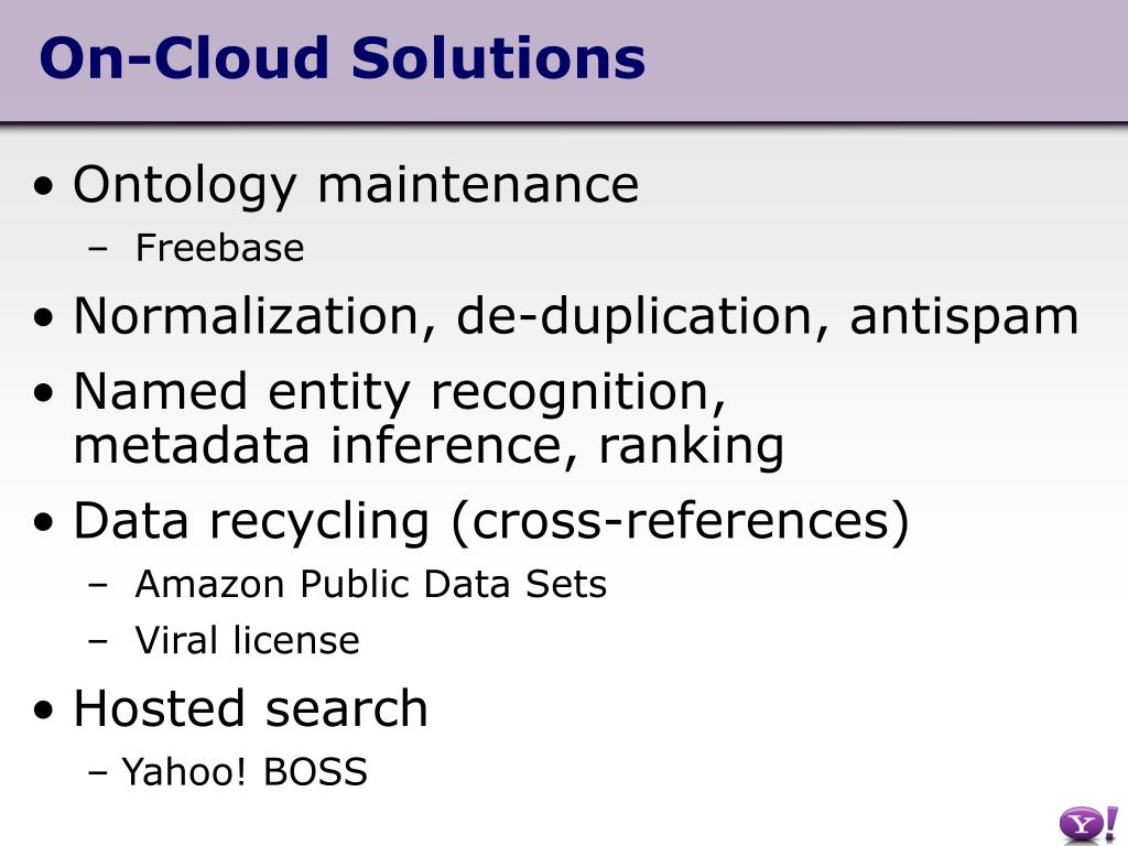 On-Cloud Solutions