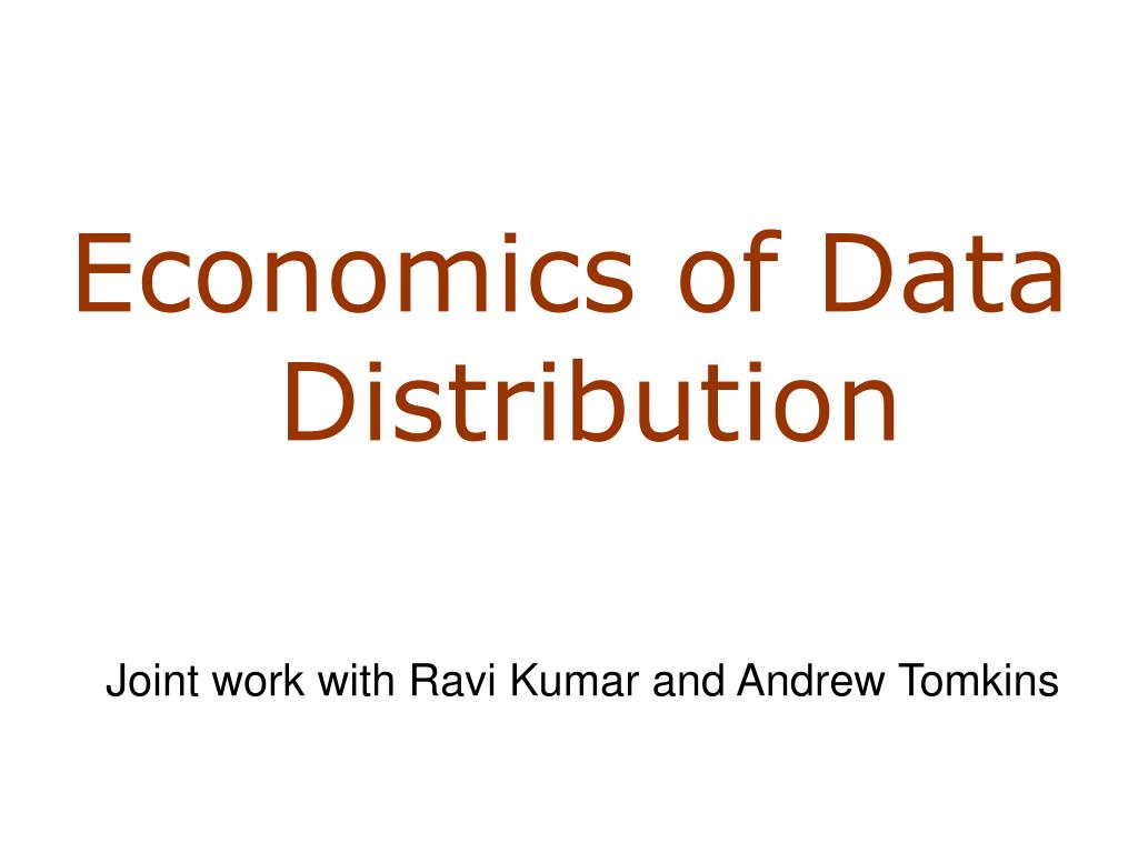 Economics of Data Distribution