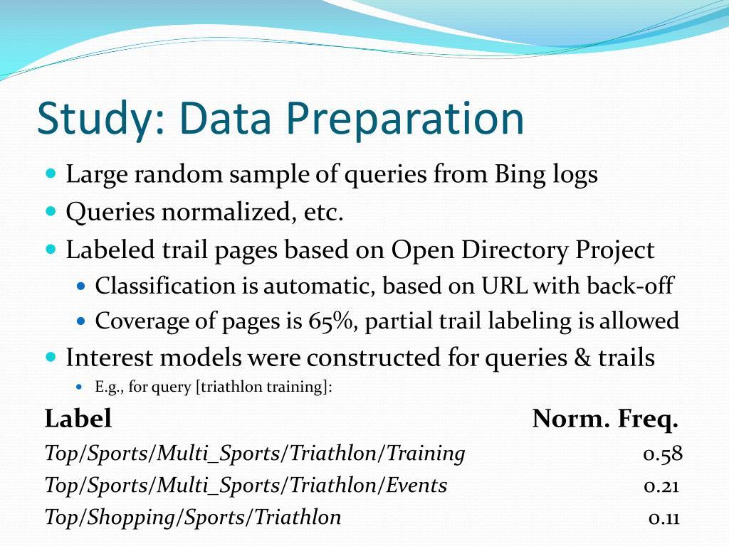 Study: Data Preparation