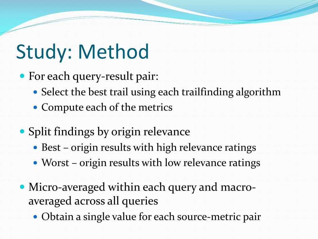 Study: Method