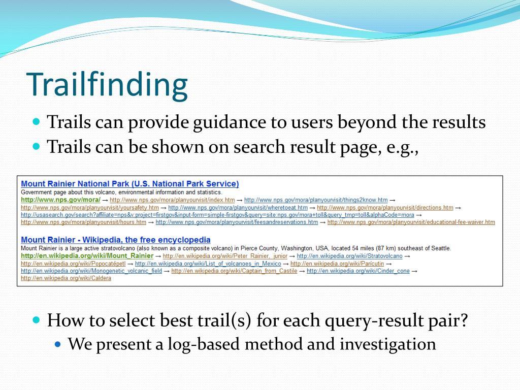 Trailfinding