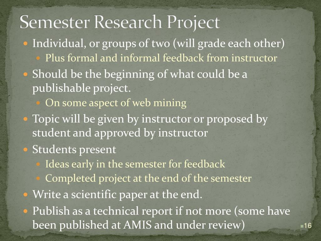 Semester Research Project