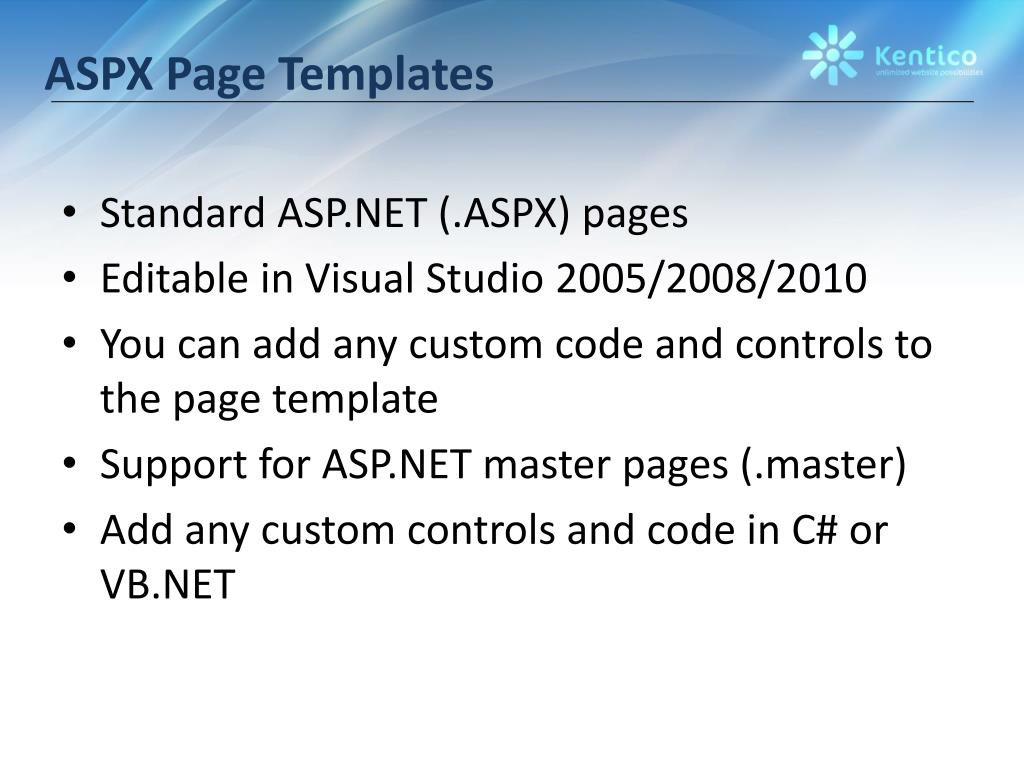 ASPX Page Templates