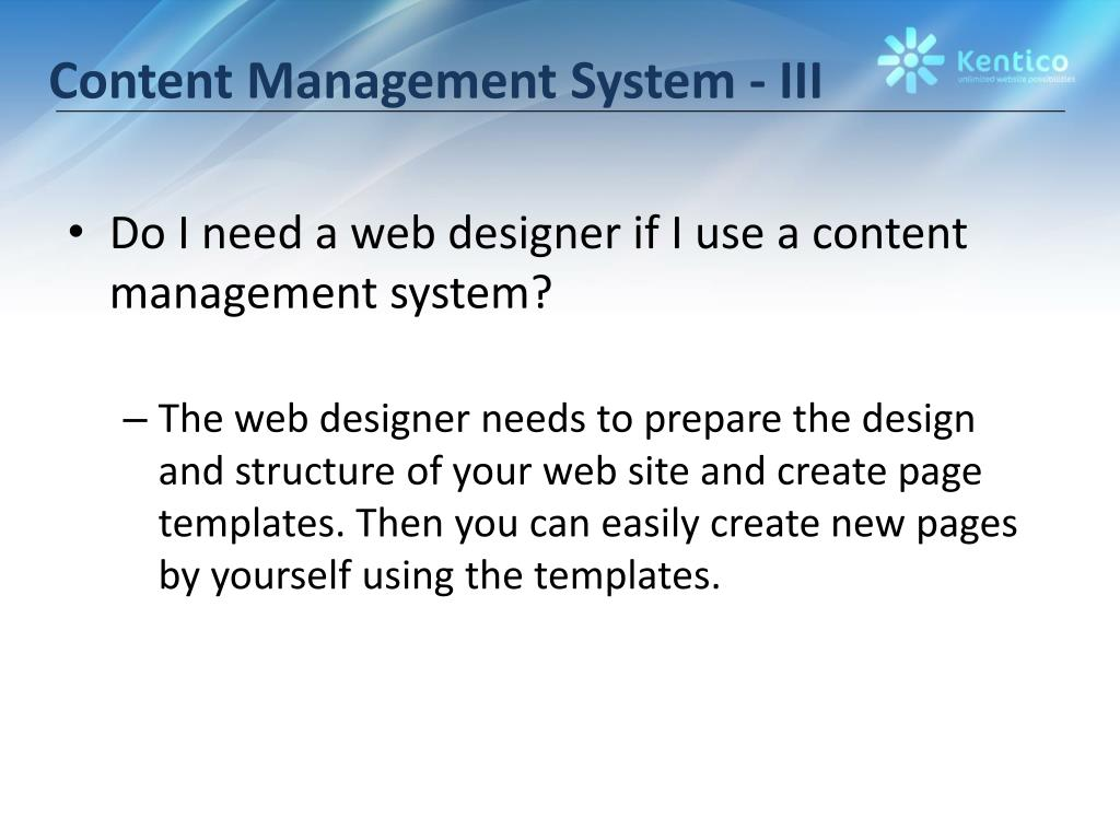 Content Management System - III