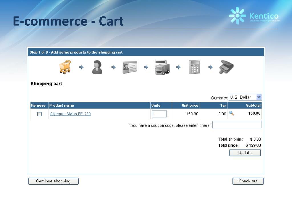 E-commerce - Cart
