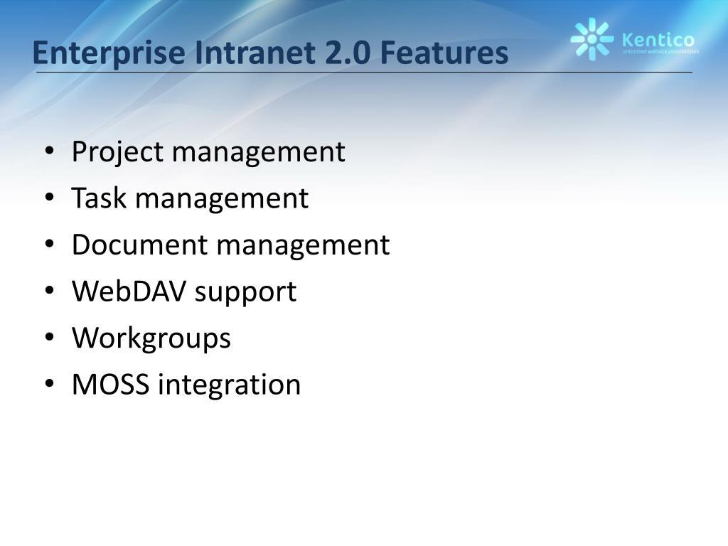 Enterprise Intranet 2.0 Features