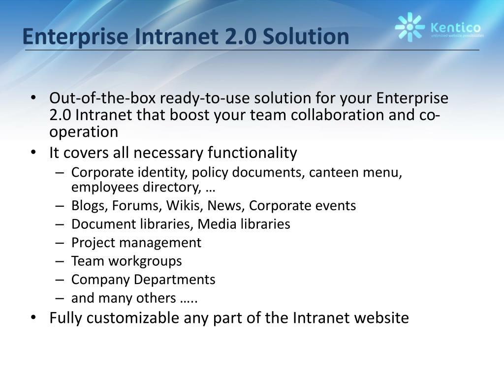 Enterprise Intranet 2.0 Solution