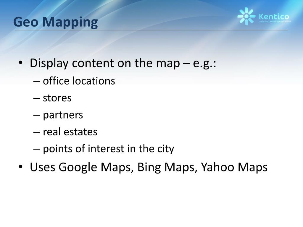 Geo Mapping
