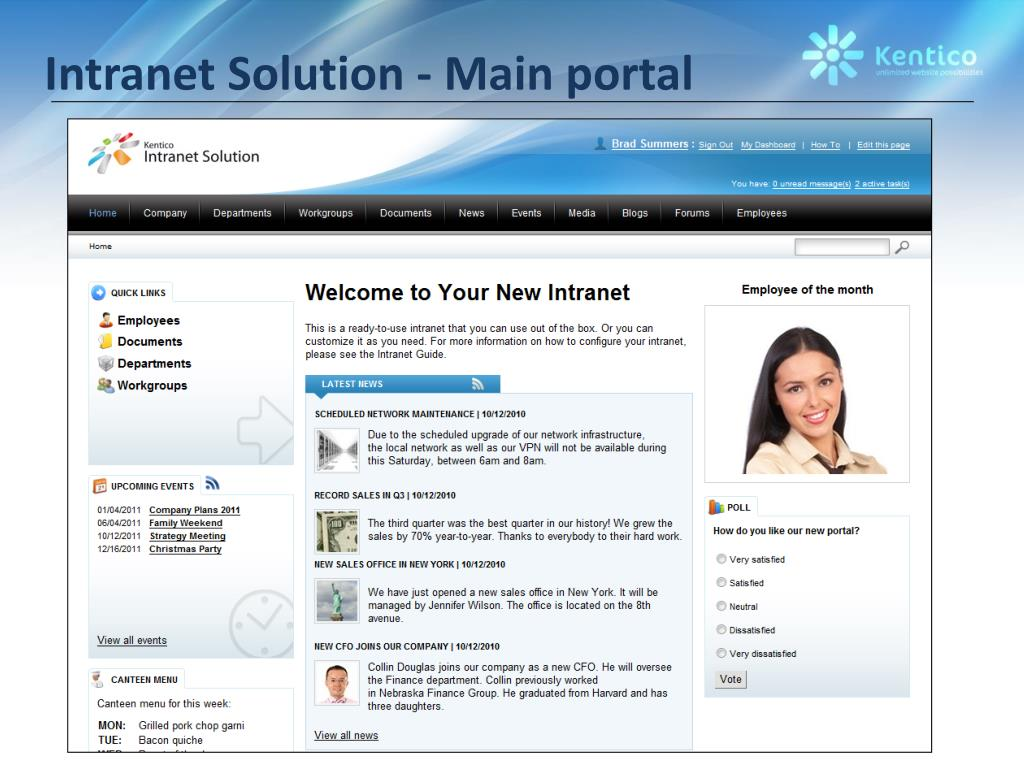 Intranet Solution - Main portal