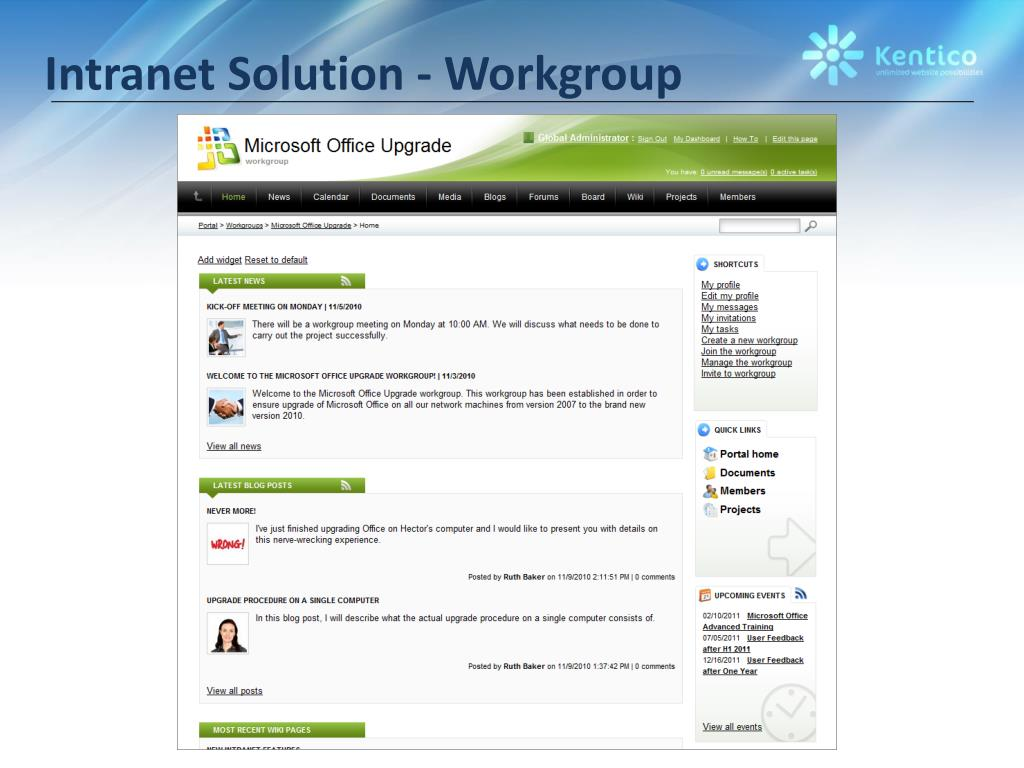 Intranet Solution - Workgroup